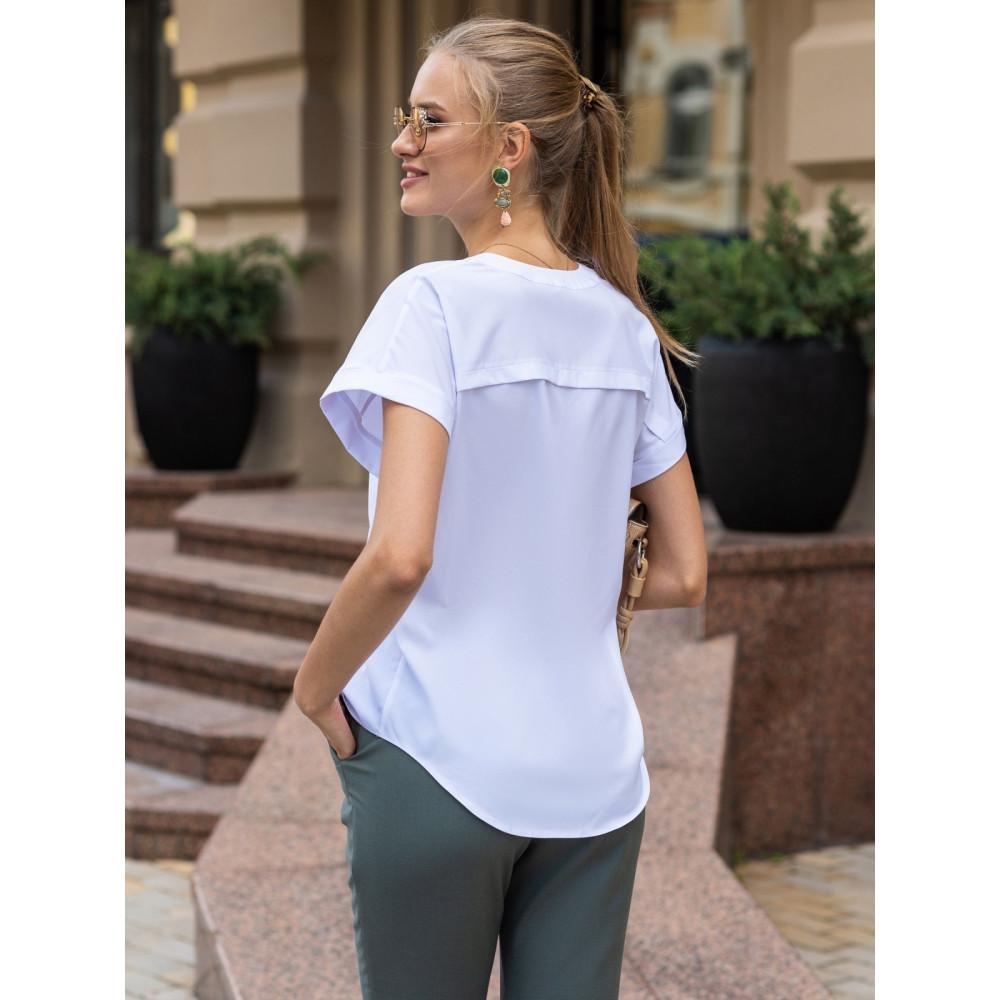 Базовая белая блузка Алма фото 2