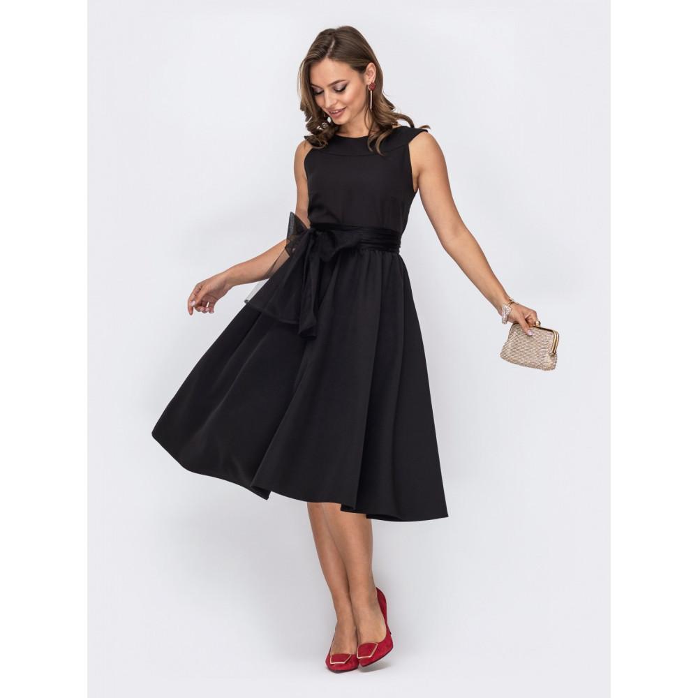 Кокетливое платье с поясом-бантом фото 2