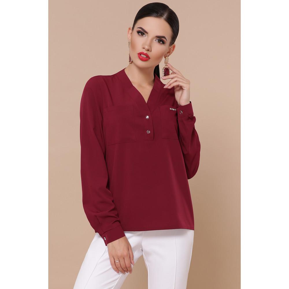 Лаконичная блузка с V-вырезом Жанна фото 2