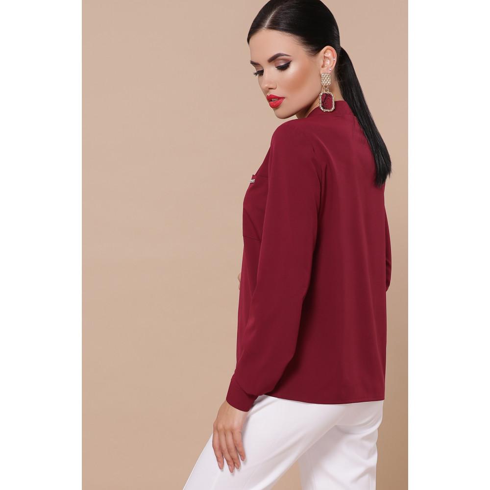 Лаконичная блузка с V-вырезом Жанна фото 3
