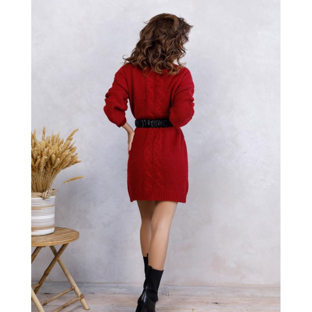 Вязаное платье Урсула с высокой горловиной фото 3
