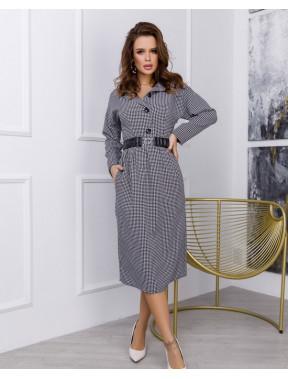 Офисное платье в модный принт Моника