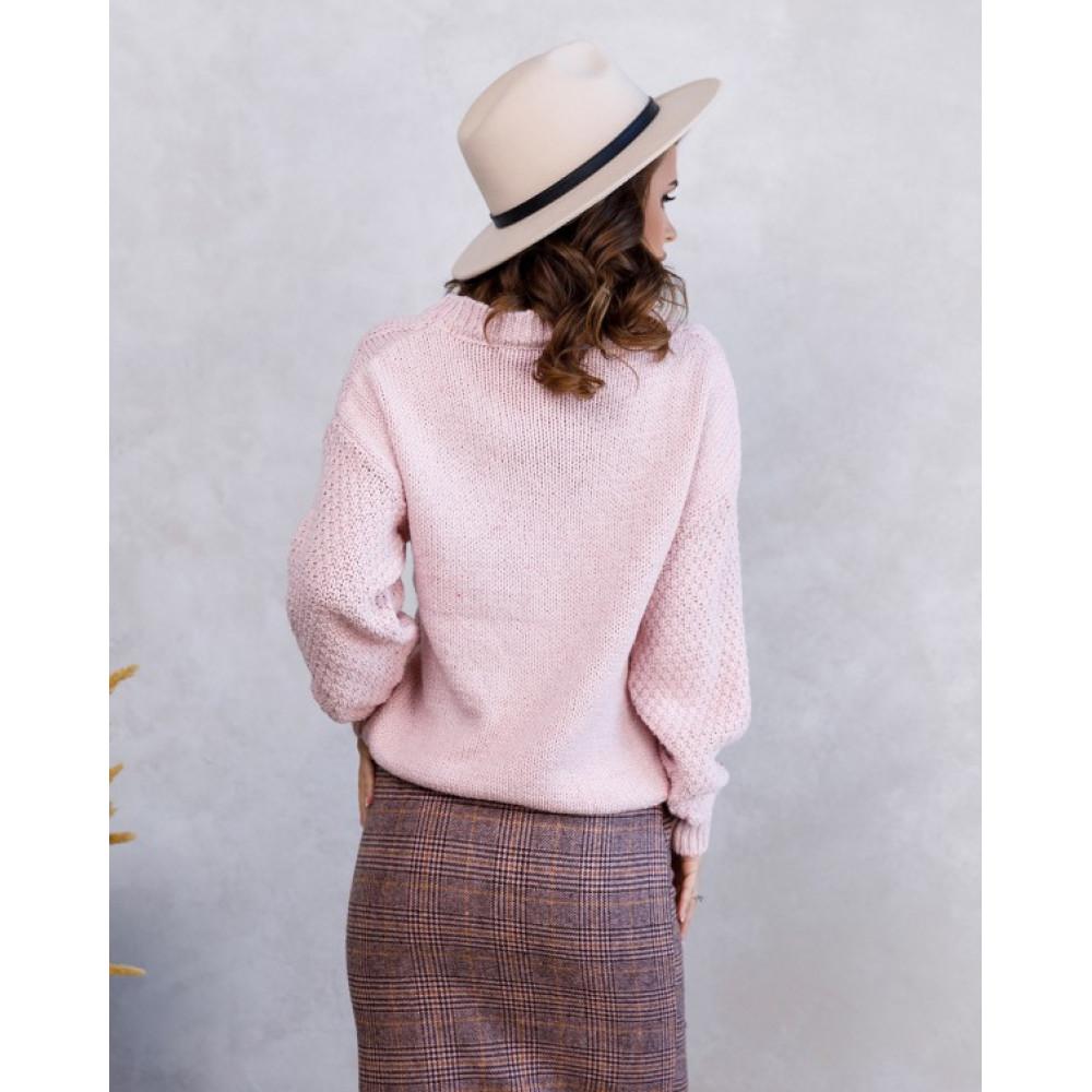 Вязаный свобоный свитер Шайна фото 2
