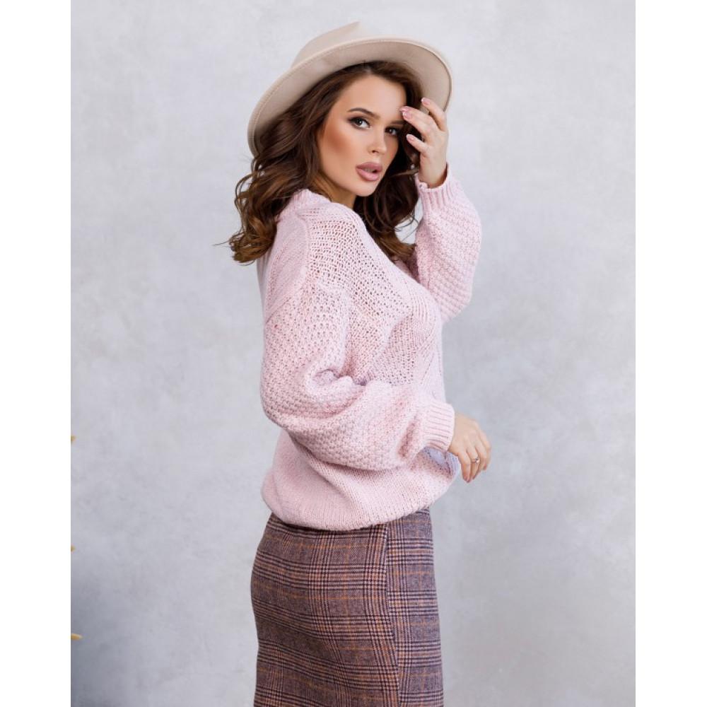 Вязаный свобоный свитер Шайна фото 3
