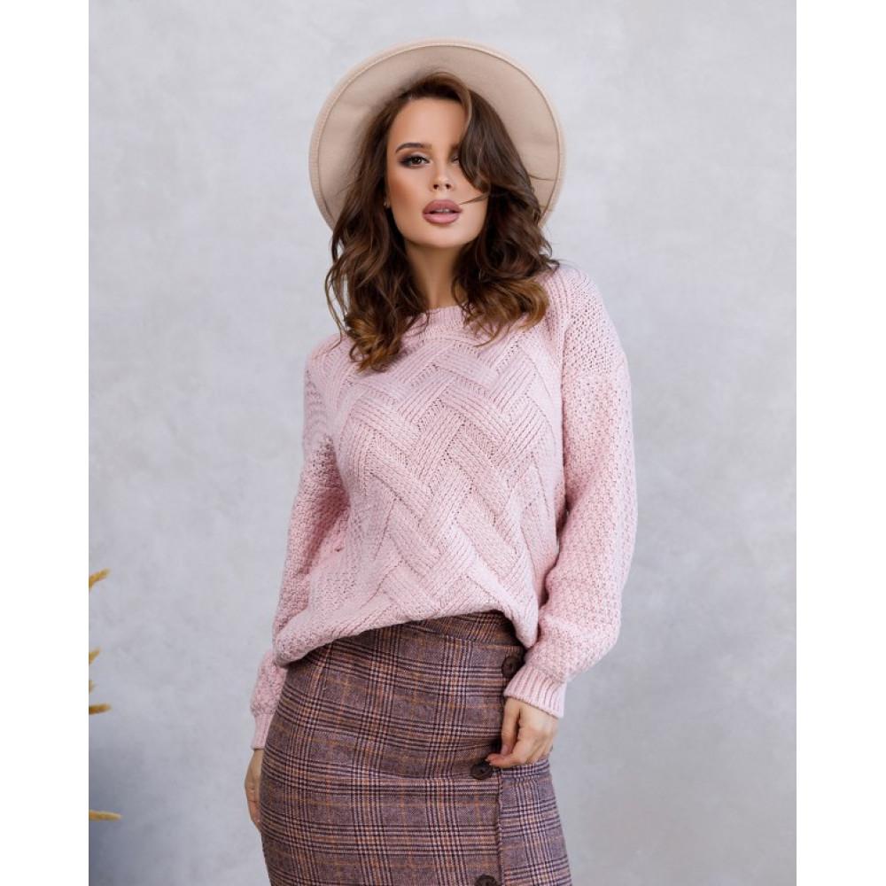 Вязаный свобоный свитер Шайна фото 4