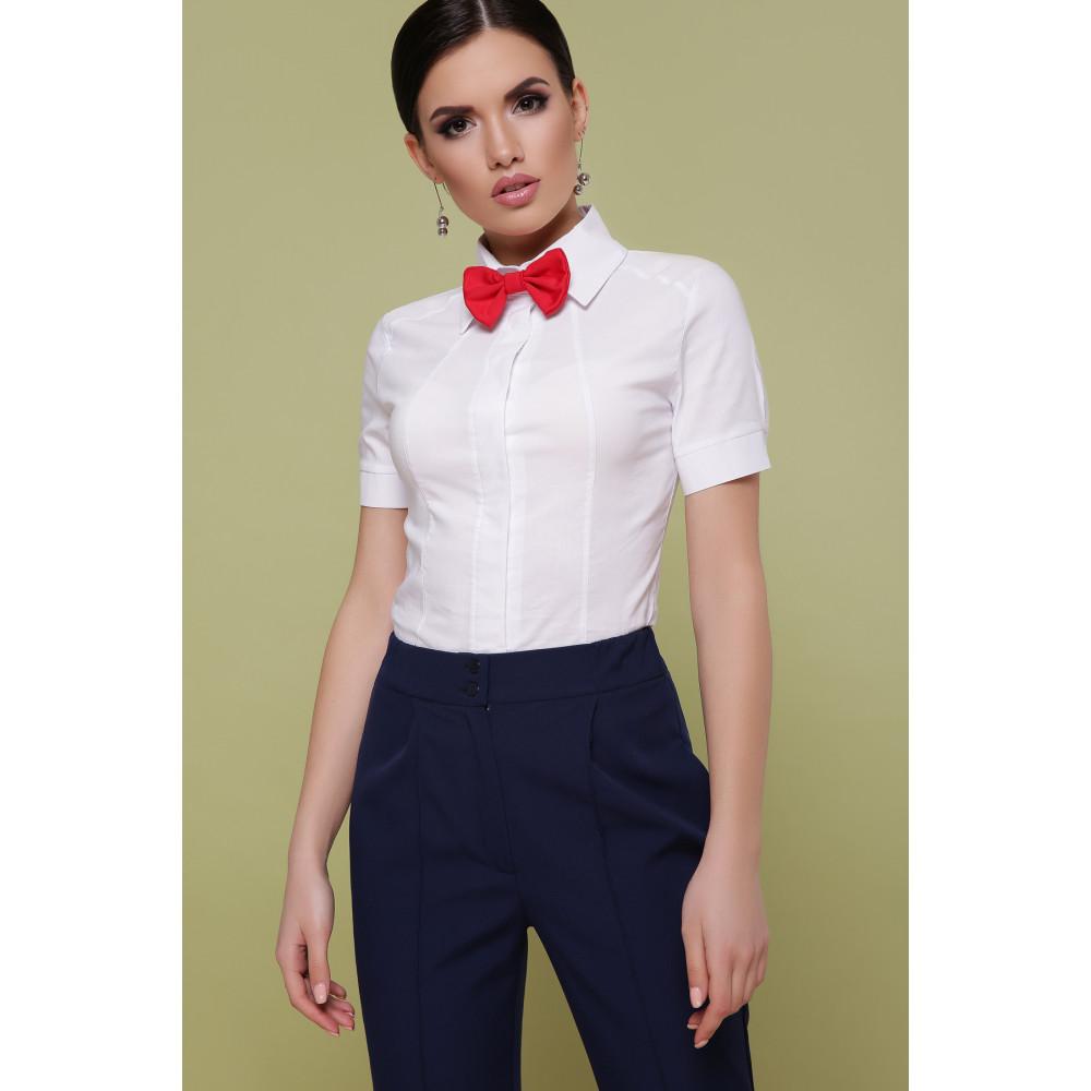 Классическая белая рубашка с коротким рукавом Норма фото 1