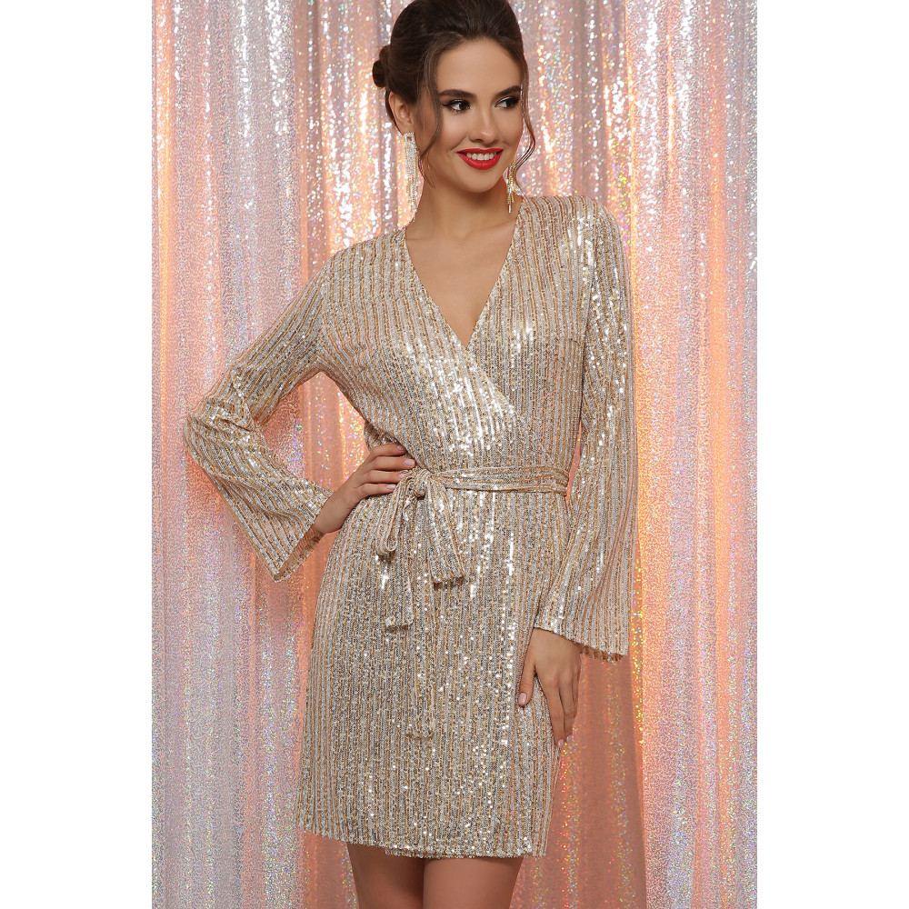 Золотистое платье на запах Земфира  фото 2