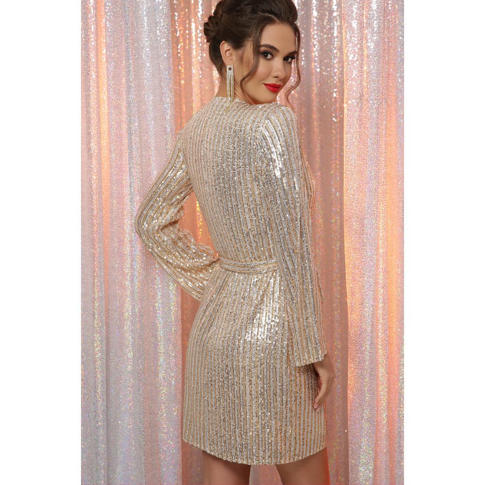 Золотистое платье на запах Земфира  фото 4