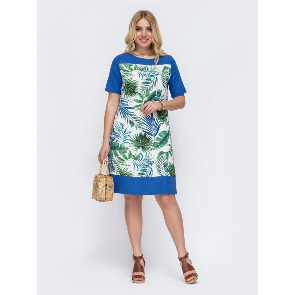 Красивое платье с принтом Амазония фото 1