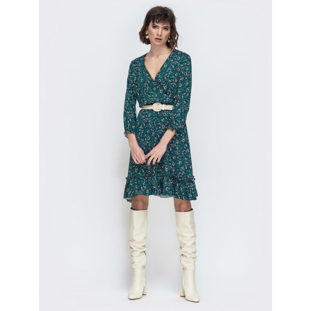 Легкое зеленое платье Милли фото 1