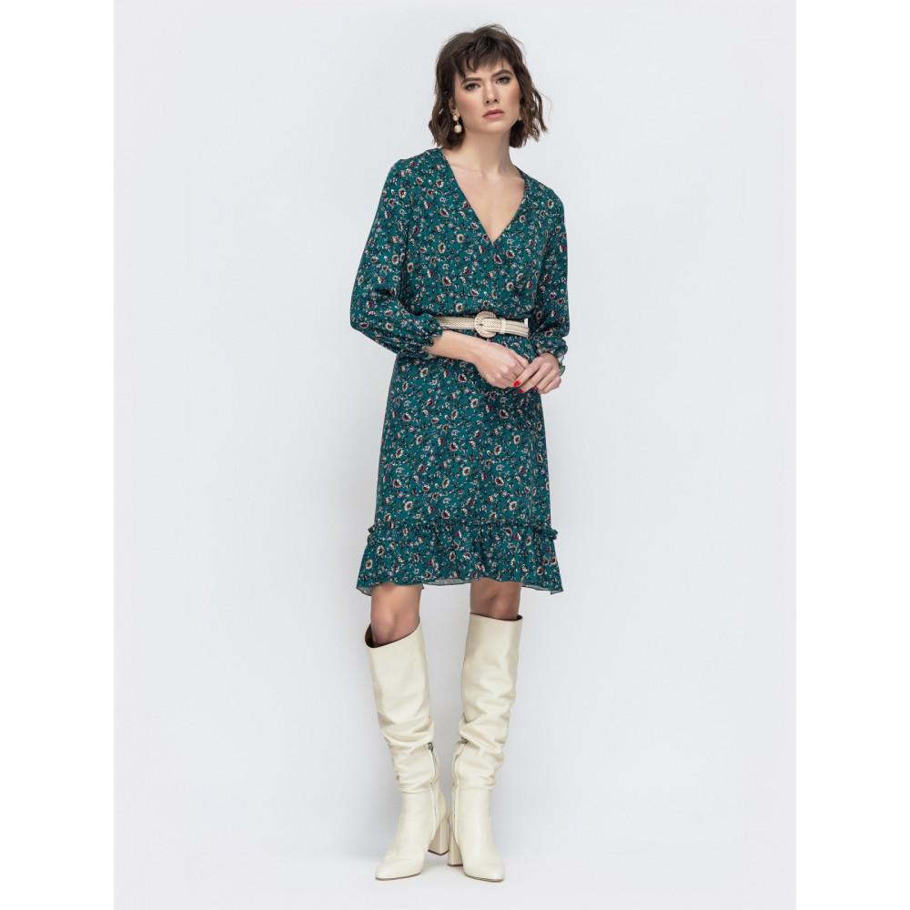 Легкое зеленое платье Милли фото 2