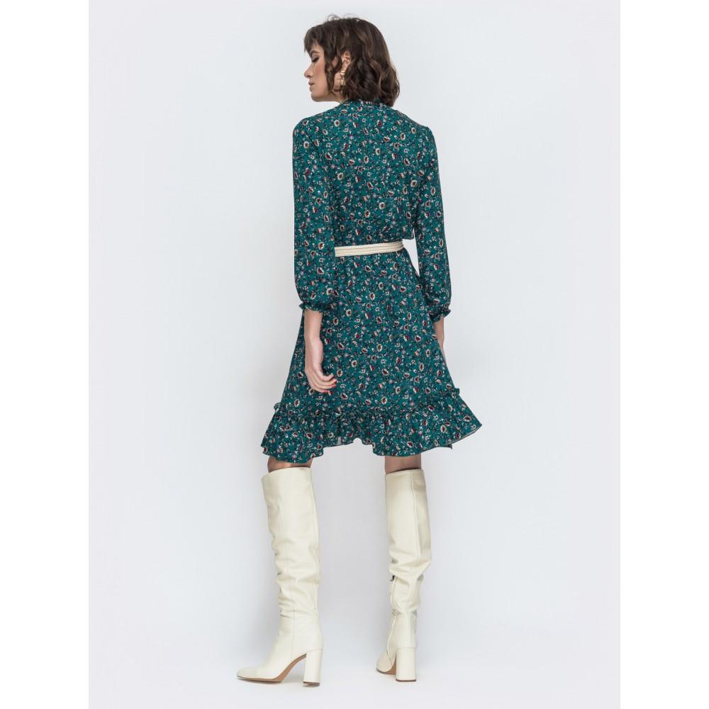 Легкое зеленое платье Милли фото 3
