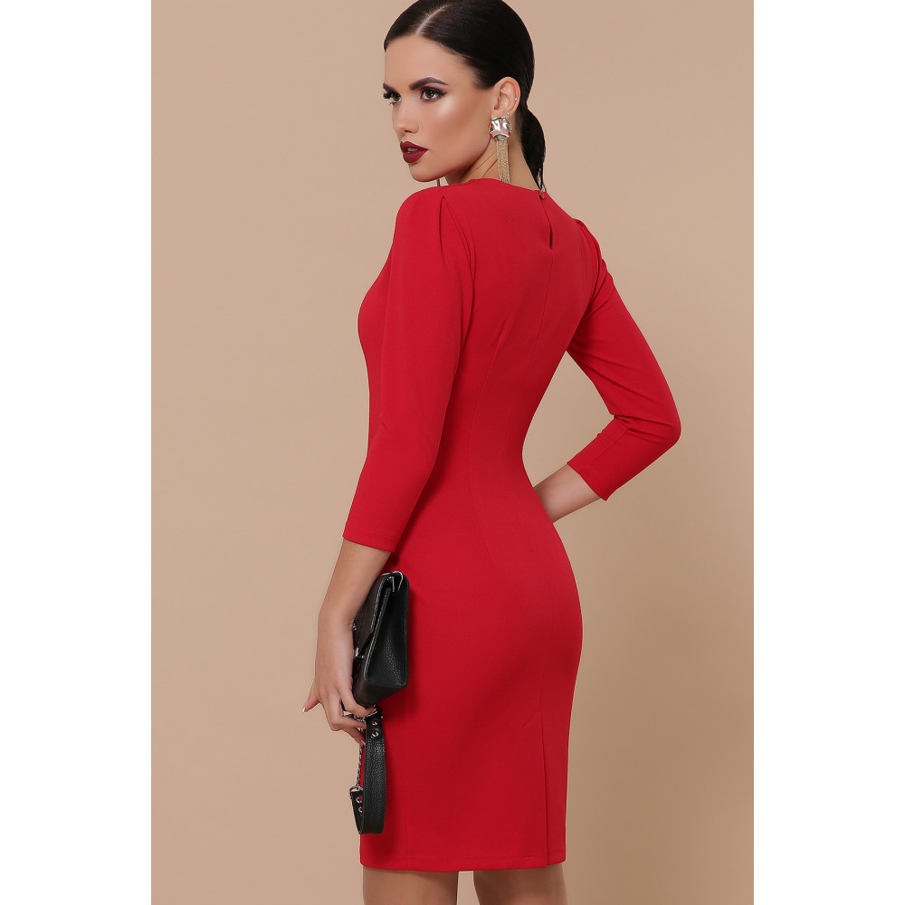 Базовое красное платье Модеста фото 3
