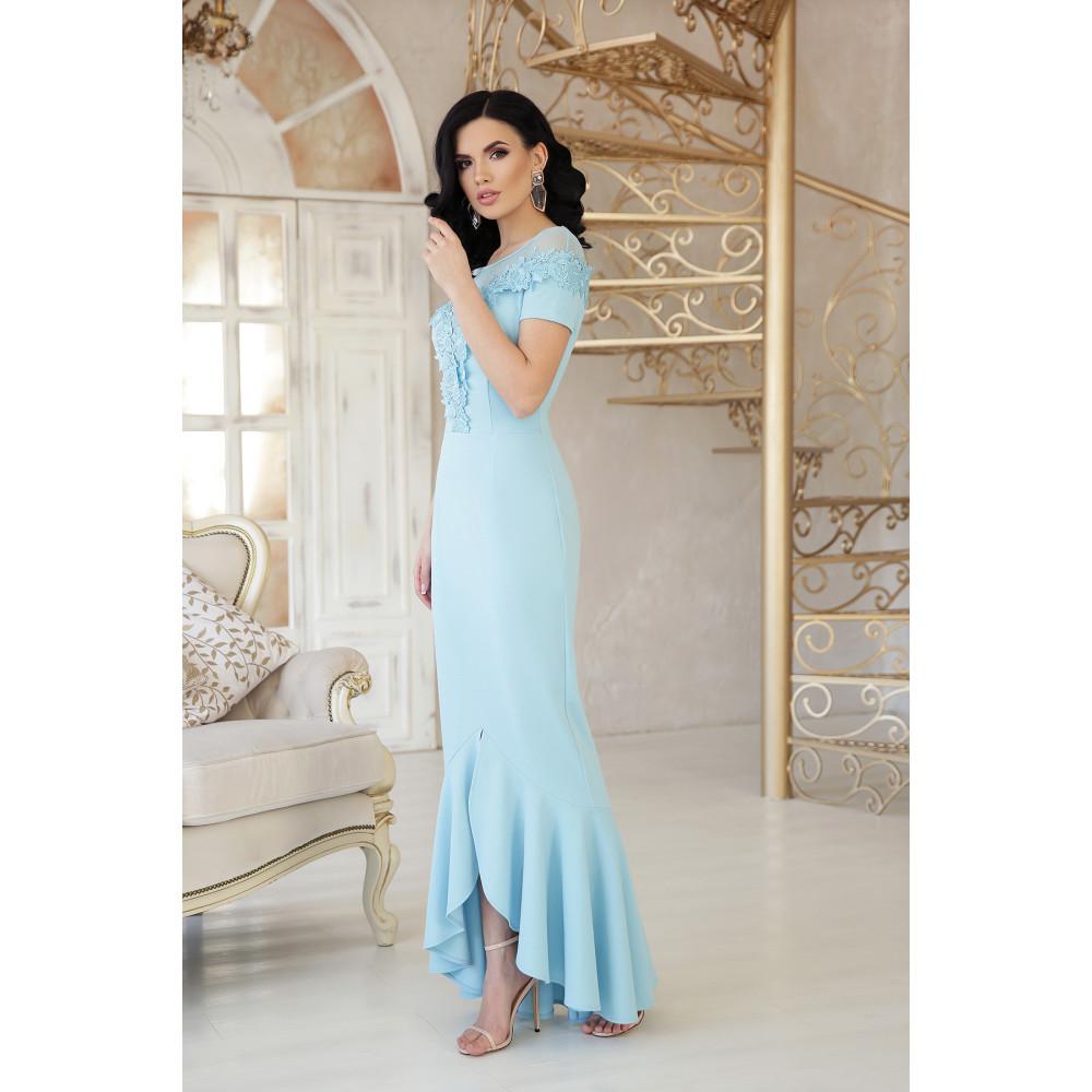 Милое платье декорированное цветами Наоми фото 2