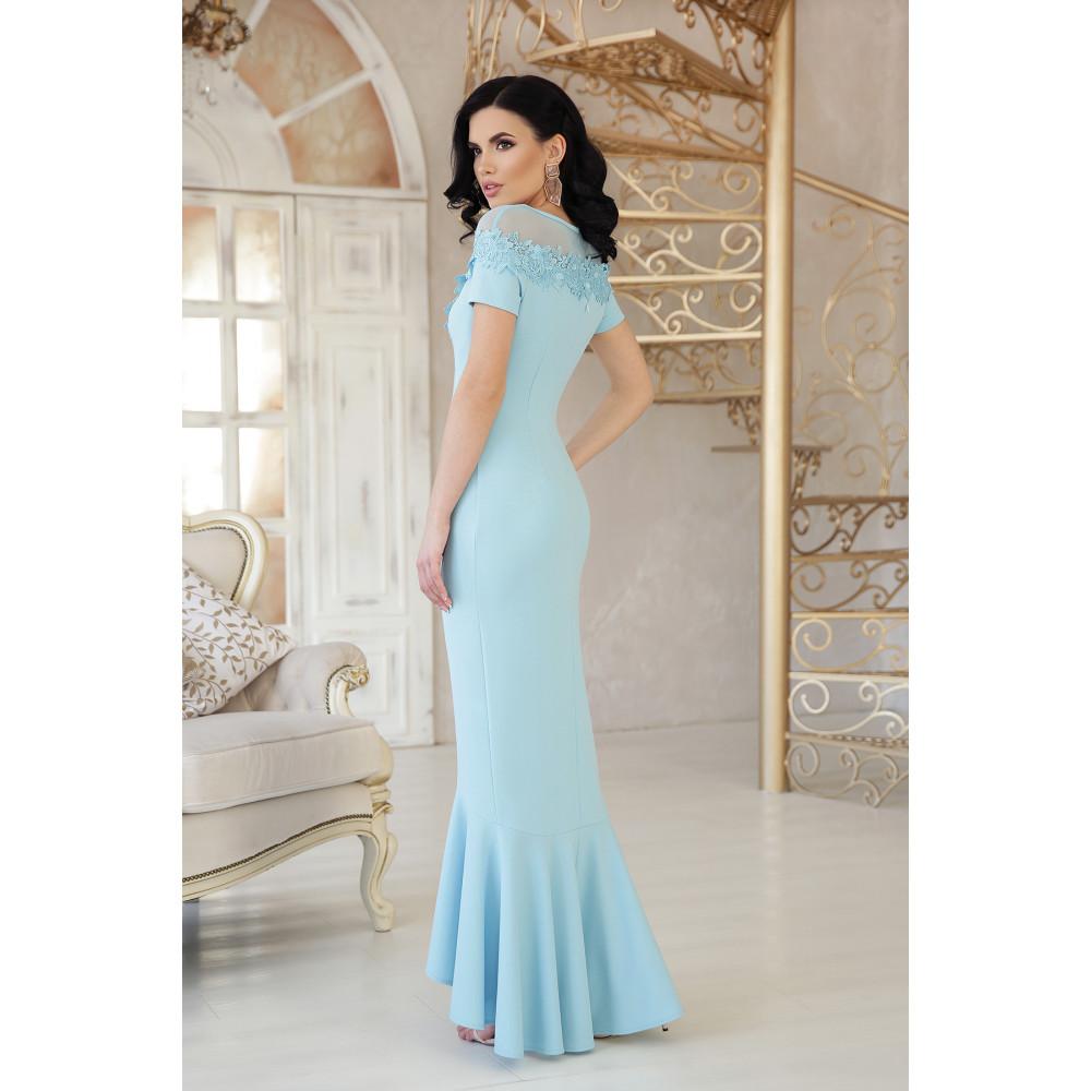 Милое платье декорированное цветами Наоми фото 3