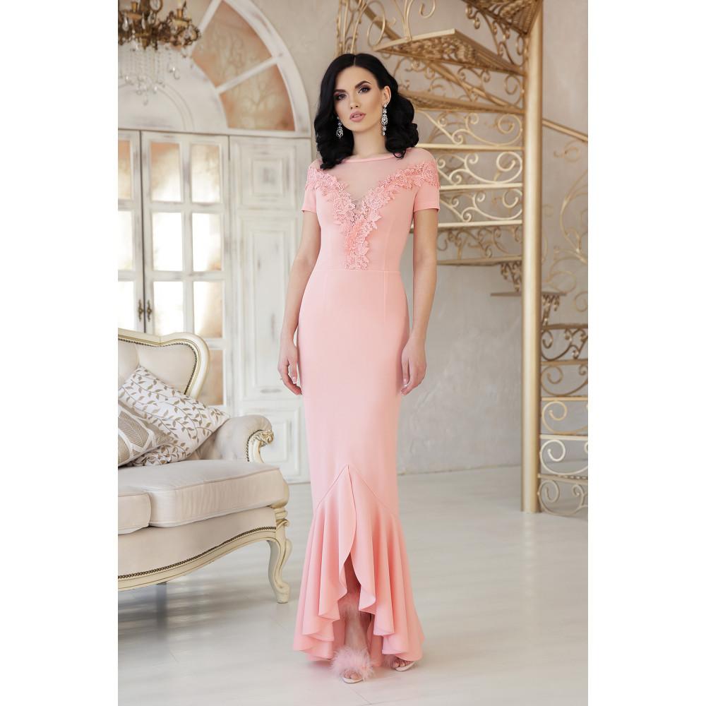 Изумительное платье декорированное цветами Наоми фото 1