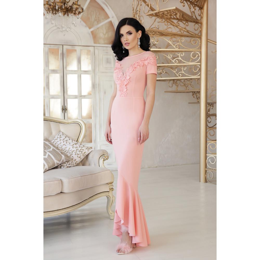 Изумительное платье декорированное цветами Наоми фото 2