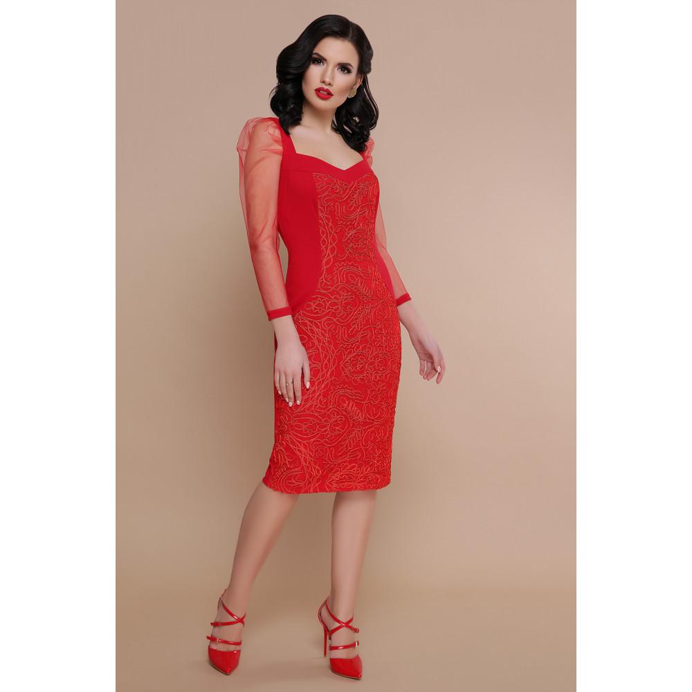 Интересное красное платье Памела фото 1