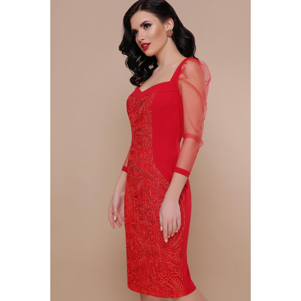 Интересное красное платье Памела фото 3