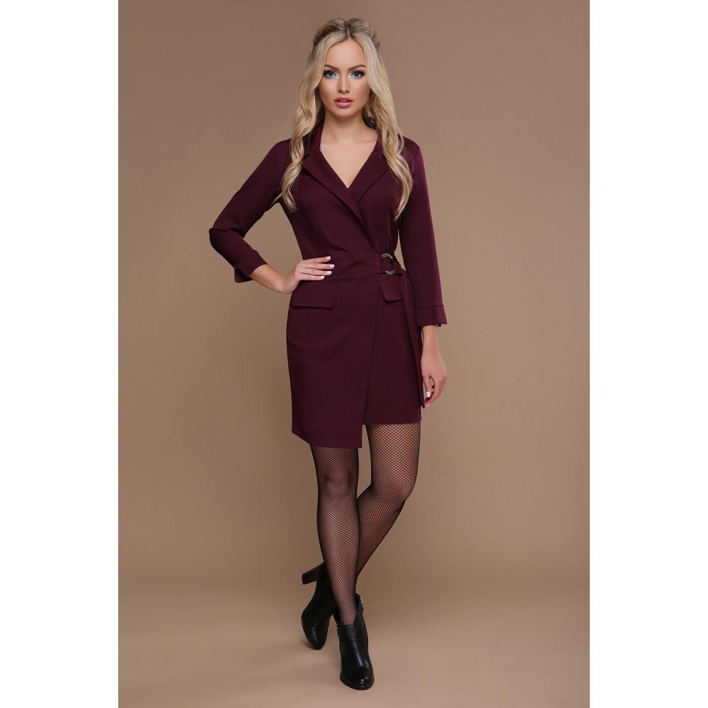 Интересное бордовое платье Полина фото 1