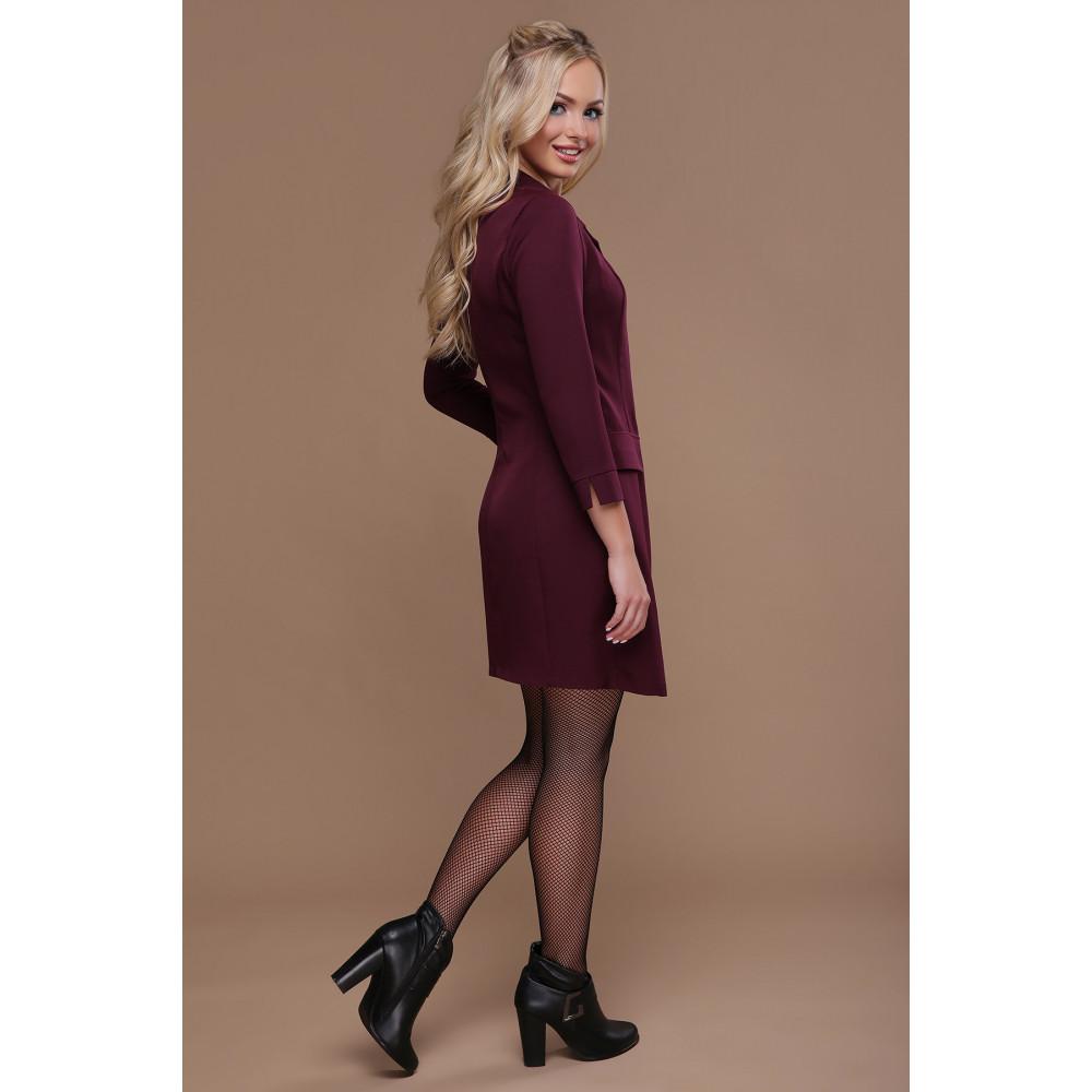 Интересное бордовое платье Полина фото 2