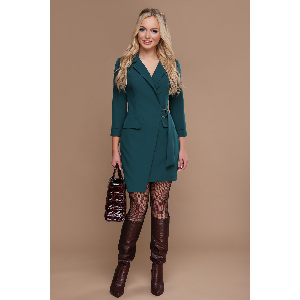 Изумрудное платье-пиджак Полина фото 1