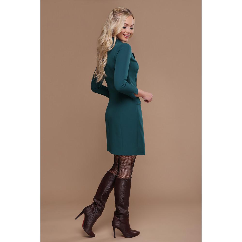 Изумрудное платье-пиджак Полина фото 2