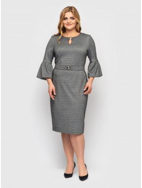 Офісна сукня з об'ємними манжетами Паріс
