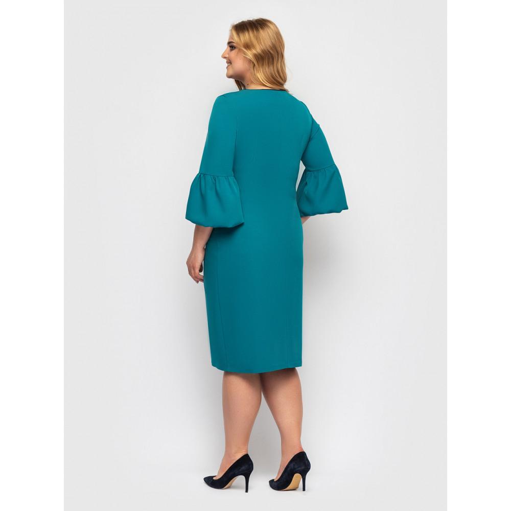 Бирюзовое женственное платье Парис фото 2