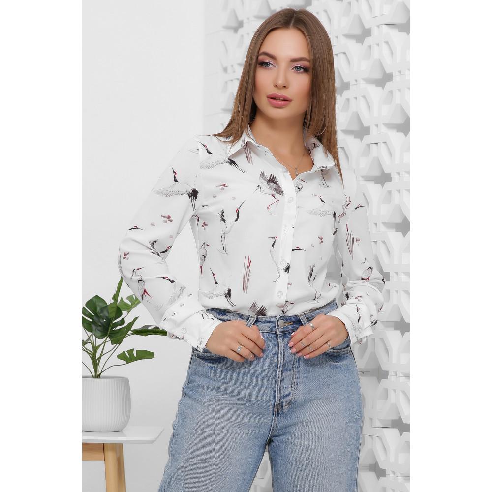 Женская блуза с принтом Аисты фото 1