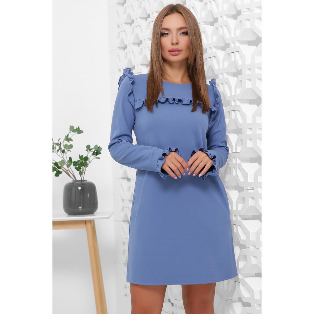 Милое голубое платье с оборками фото 1