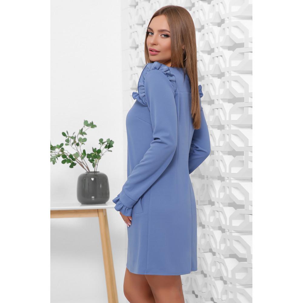 Милое голубое платье с оборками фото 2