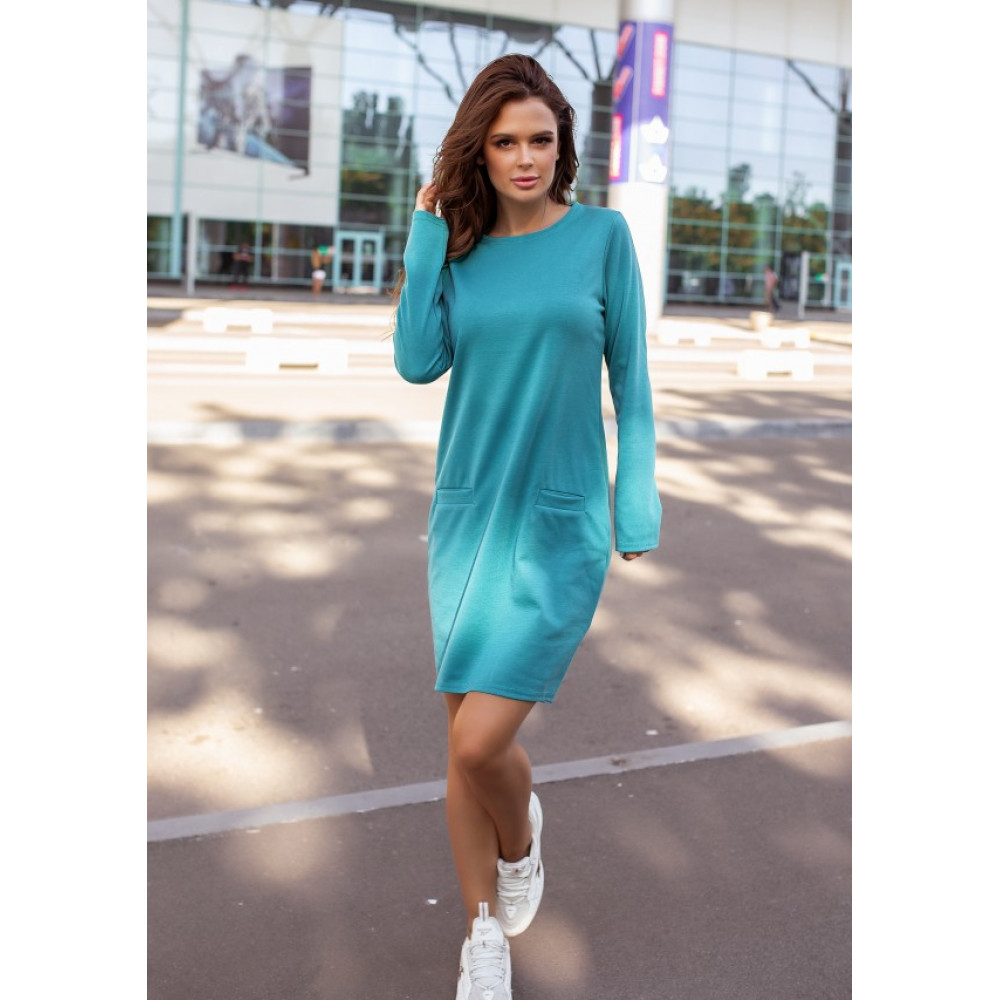 Бирюзовое яркое платье Алия фото 1