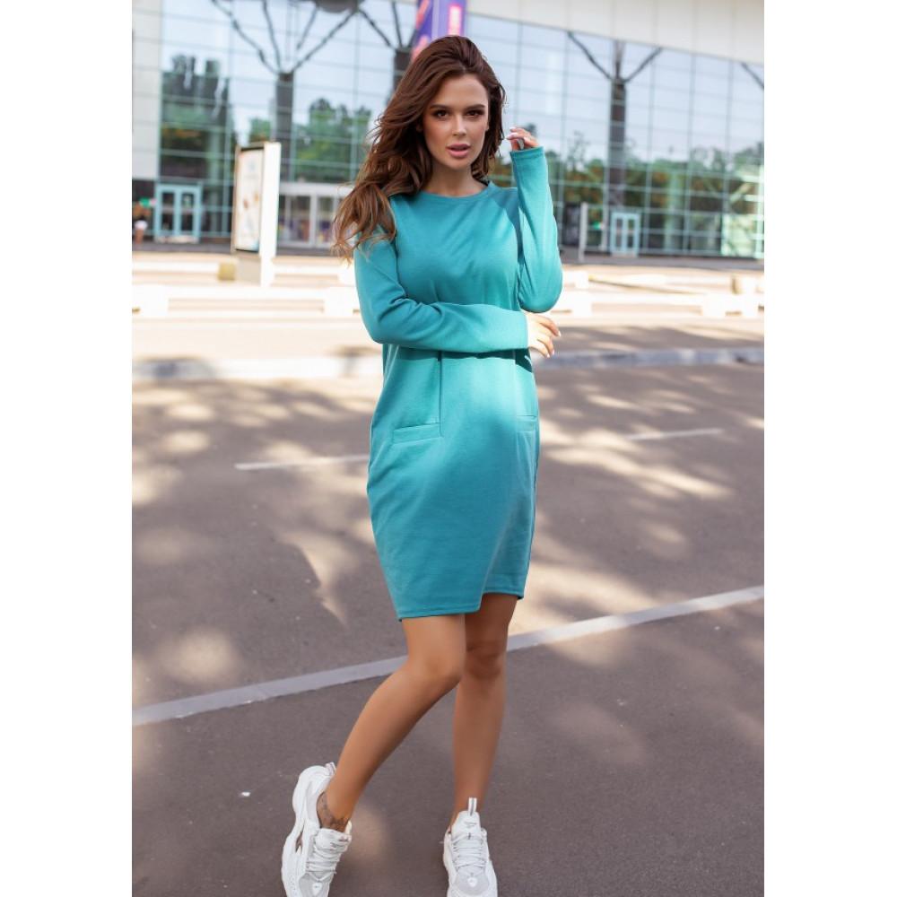 Бирюзовое яркое платье Алия фото 2
