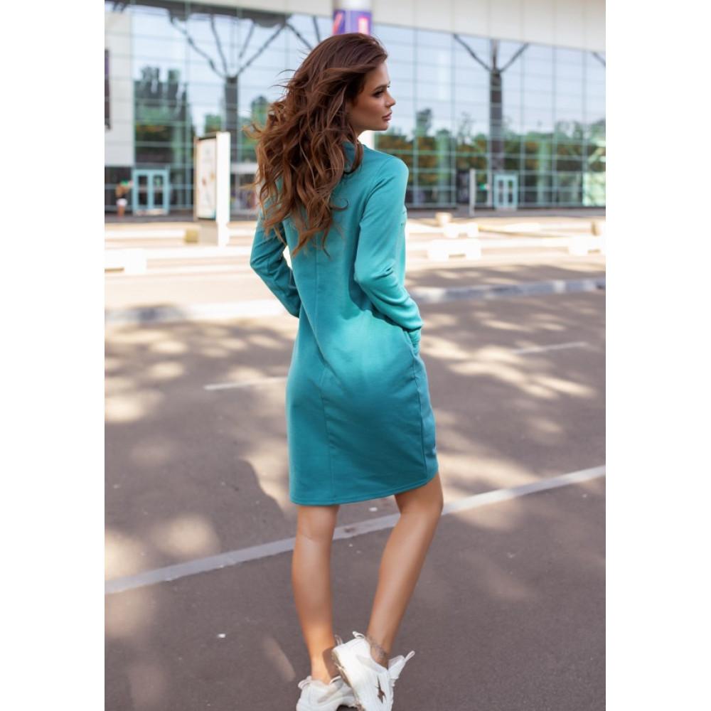 Бирюзовое яркое платье Алия фото 3