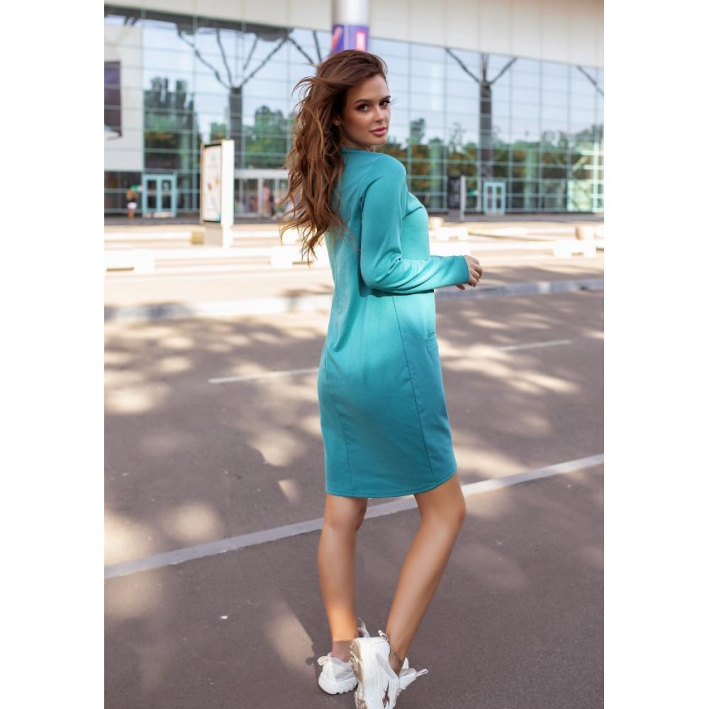 Бирюзовое яркое платье Алия фото 4