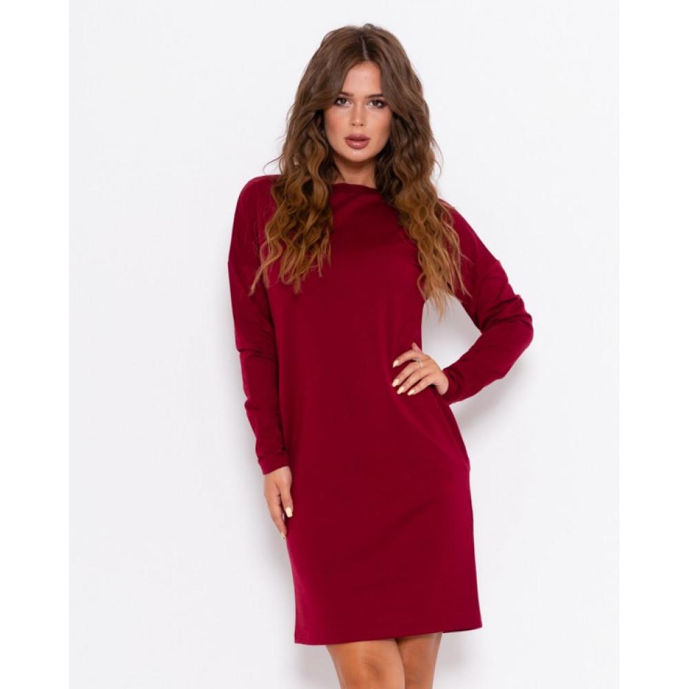 Бордовое практичное платье Анета фото 1