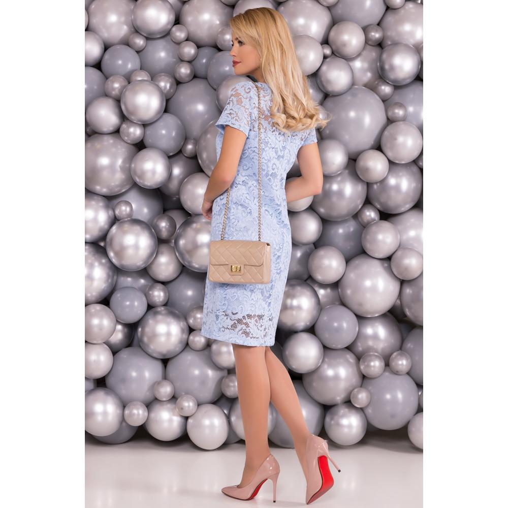 Голубое винтажное платье фото 2
