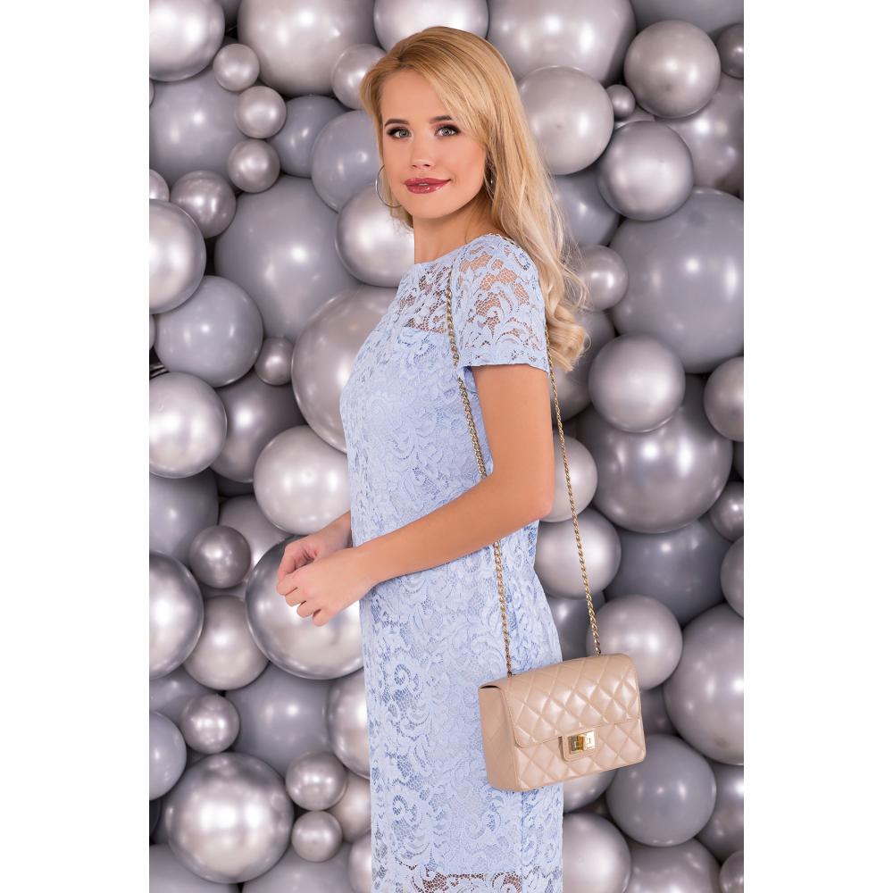 Голубое винтажное платье фото 3