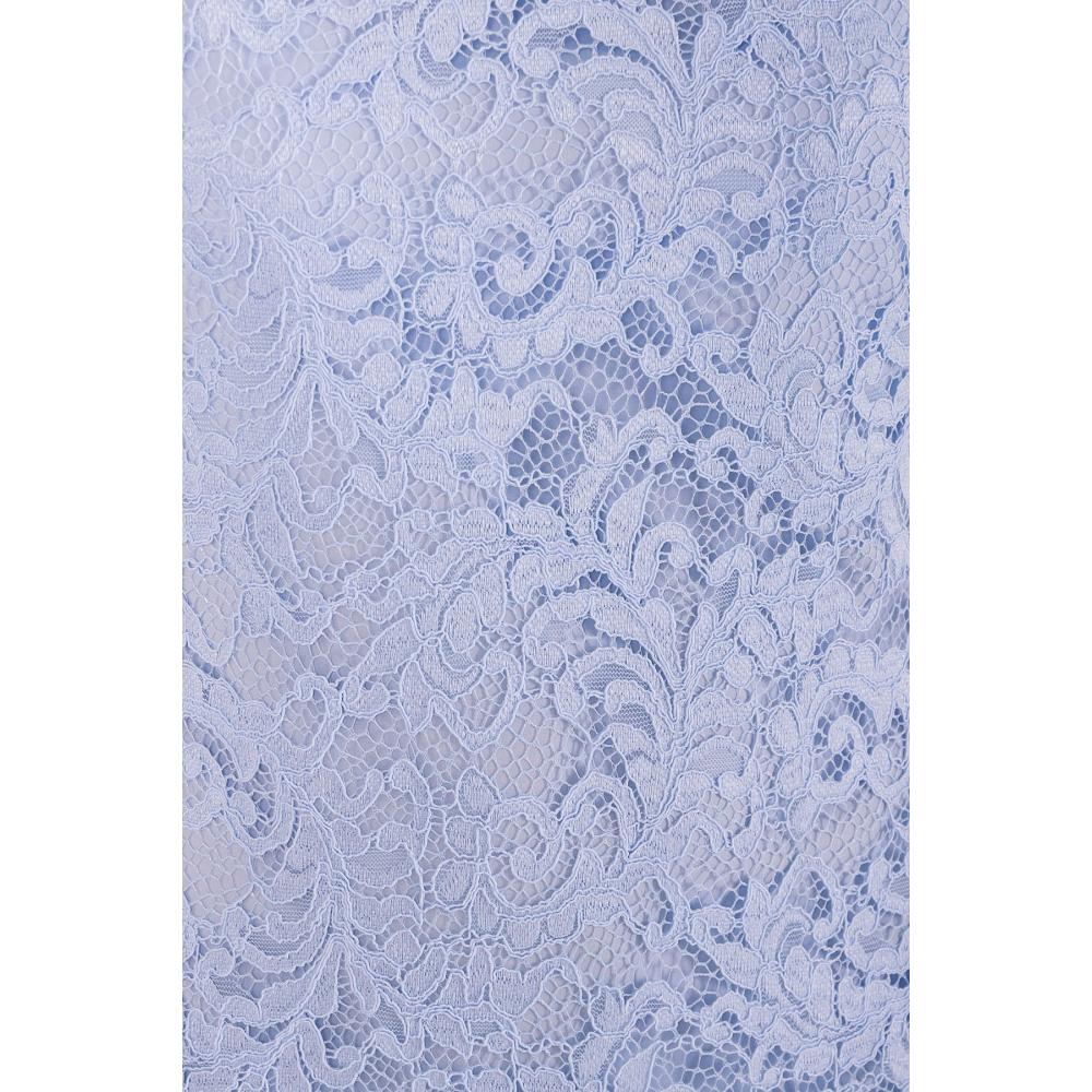Голубое винтажное платье фото 4