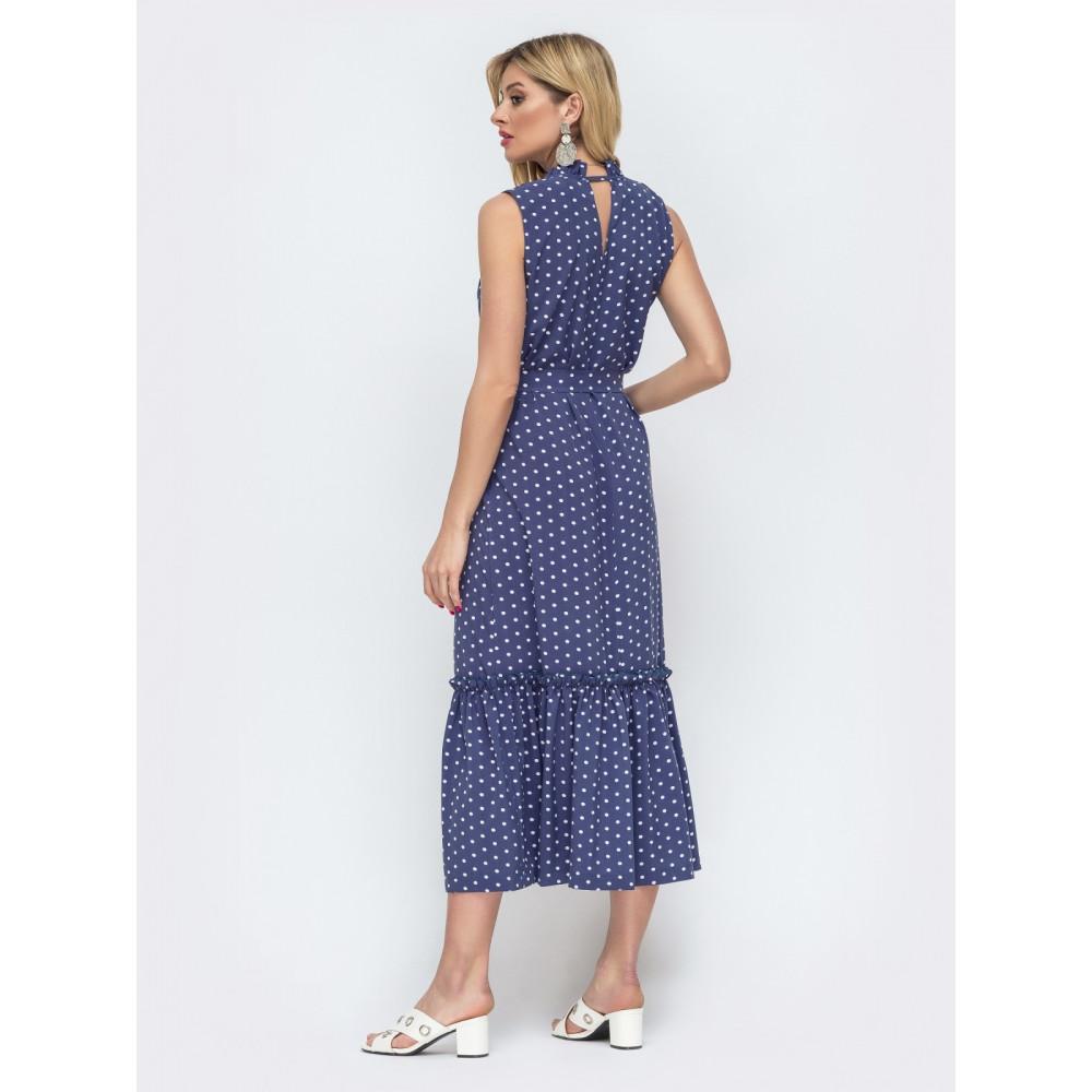 Длинное платье без рукавов из нежного софта фото 3