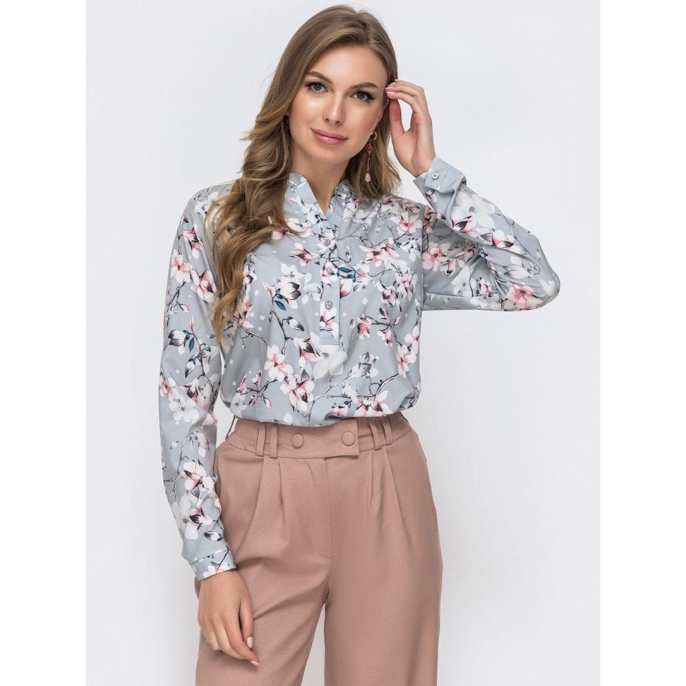 Блузка свободного кроя с планкой-застежкой Молли фото 1