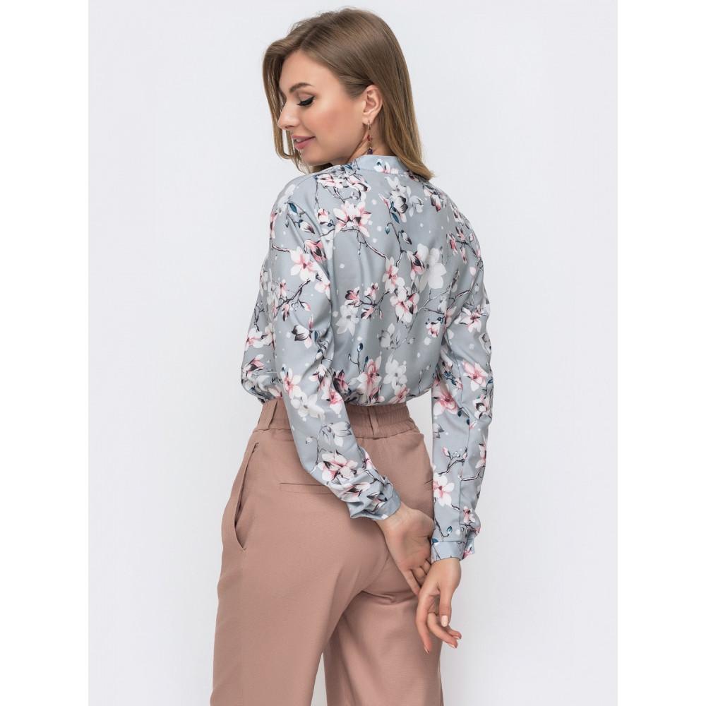Блузка свободного кроя с планкой-застежкой Молли фото 2