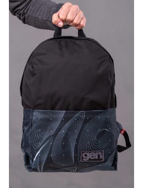 Рюкзак в оригинальный принт с карманом для ноутбука Maks
