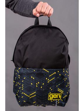 Рюкзак в жовті смужки з кишенею для ноутбуку Maks