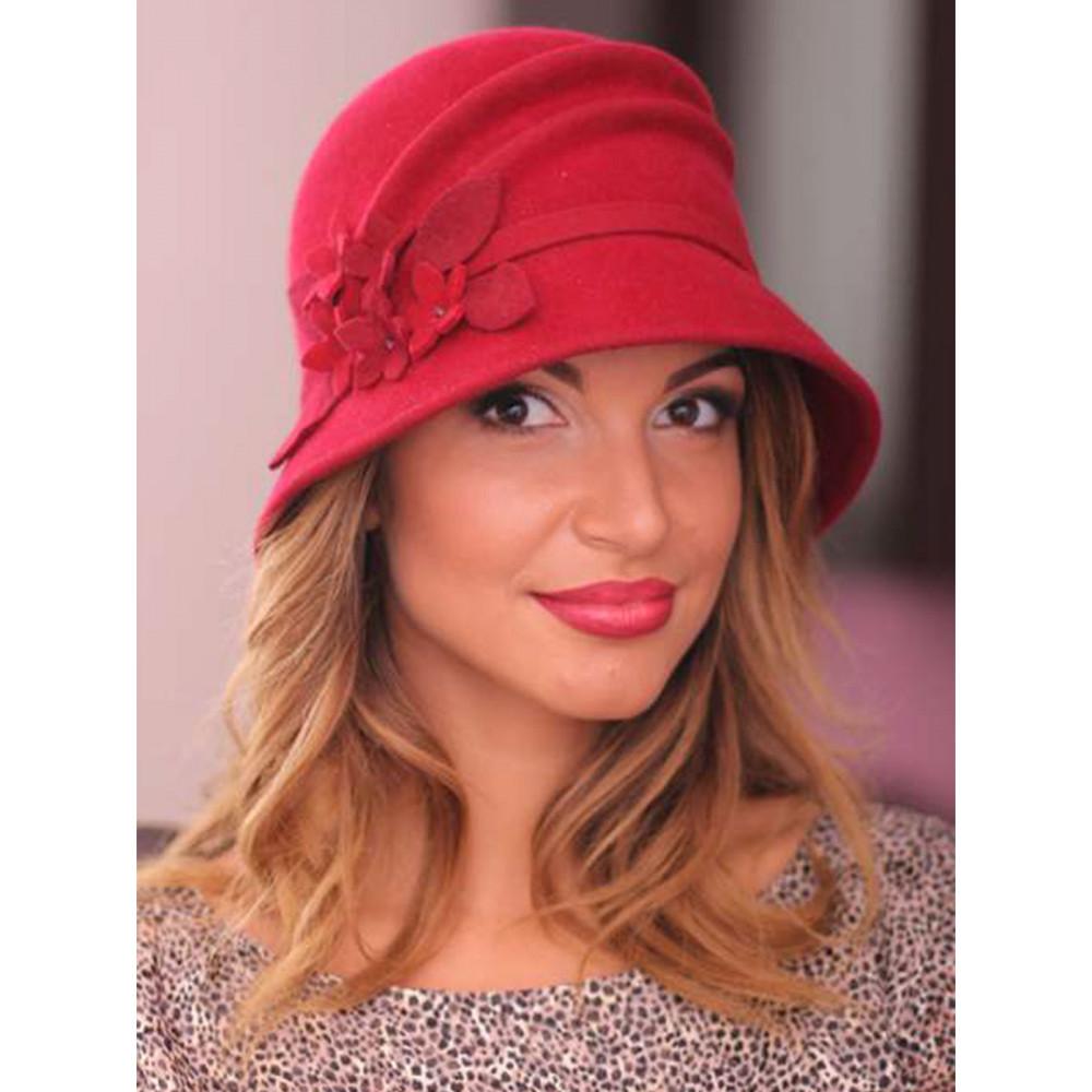 Красивая фетровая шляпка 241-3 фото 1