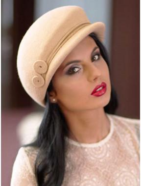 Стильна жіноча фетрова кепка 250-1