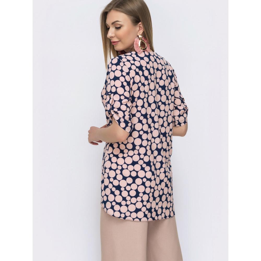 Милая блузка с удлиненной спинкой Сандра фото 2