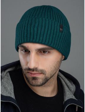 Зеленая мужская шапка Форум с флисом