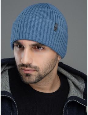 Синяя мужская шапка Форум на флисе